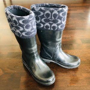 Coach Rubber Rain Boots